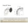 Отвод моно 87° ОМ-Р (AISI 430, 0.8 мм) d-150 мм