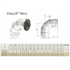 Отвод моно 87° ОМ-Р (AISI 430, 0.8 мм) d-115 мм