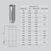 Дымоход (AISI 430, 0.5 мм) d-150 мм 500 мм