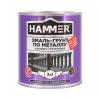 Грунт-эмаль по металлу 3в1 HAMMER RAL 6005 зеленый мох 2.7 кг