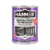 Грунт-эмаль по металлу 3в1 HAMMER RAL 7004 сигнальный серый 0.9 кг