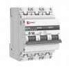 Выключатель автоматический модульный 3п D 10А 4.5кА ВА 47-63 PROxima EKF mcb4763-3-10D-pro