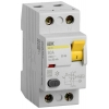 Выключатель дифференциального тока (УЗО) 2п 80А 30мА тип AC ВД1-63 IEK MDV10-2-080-030