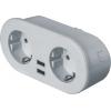 Адаптер-разветвитель с управлением по WI-FI 2-м +2 USB NSH-ST-02 с заземл. бел. Smart Home Navigator 14556