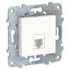 Механизм розетки телефонная UNICA NEW RJ11 одиноч. 4 контакта бел. SchE NU549218