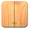 Выключатель 2-кл. ОП Blanca 10А IP20 (сх. 5) 250В с подсветкой с изолир. пластиной ясень SchE BLNVA105115
