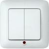 Выключатель 2-кл. СП Прима 6А IP20 250В с подсветкой бел. (опт. упак.) SchE S56-039-B