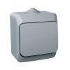 Выключатель 1-кл. ОП Этюд 10А IP44 10AX сер. SchE BA10-041C