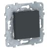 Переключатель 1-кл. 2мод. СП Unica New IP21 (сх. 6) 250В 10AX антрацит SchE NU520354