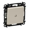 Механизм выключателя 1-кл. СП Valena Life 10А IP20 250В 10AX с подсветкой с лиц. панелью сл. кость Leg 752510