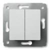 Механизм выключателя 2-кл. СП Cariva 10А IP20 250В авт. клеммы бел. Leg 773658