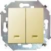 Механизм выключателя 2-кл. СП Simon 15 16А IP20 с подсветкой винт. зажим сл. кость Simon 1591392-031
