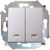 Механизм выключателя 2-кл. СП Simon 15 16А IP20 с подсветкой винт. зажим бел. Simon 1591392-030