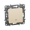 Механизм переключателя 1-кл. СП Etika Plus 10А IP20 250В 10AX с подсветкой безвинт. зажимы сл. кость Leg 672315