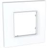 Рамка 1-м Unica quadro бел. SchE MGU2.702.18