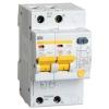 Выключатель автоматический дифференциального тока 2п C 20А 30мА тип AC 4.5кА АД-12 IEK MAD10-2-020-C-030