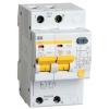 Выключатель автоматический дифференциального тока 2п C 16А 30мА тип AC 4.5кА АД-12 IEK MAD10-2-016-C-030
