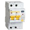 Выключатель автоматический дифференциального тока 2п C 16А 30мА тип A 4.5кА АД-12М IEK MAD12-2-016-C-030