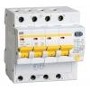 Выключатель автоматический дифференциального тока 4п C 40А 300мА тип AC 4.5кА АД-14 IEK MAD10-4-040-C-300