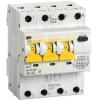 Выключатель автоматический дифференциального тока 4п (3P+N) C 10А 30мА тип A 6кА АВДТ-34 IEK MAD22-6-010-C-30