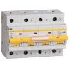 Выключатель автоматический модульный 4п C 80А 10кА ВА47-100 IEK MVA40-4-080-C