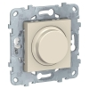 Светорегулятор UNICA NEW LED поворотно-нажимной универс. 5-200Вт беж. SchE NU551444
