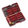 Набор стержней диэлектрических и рукоятка E-SMART с ключом для ящиков в кейсе (уп.14шт) Felo 06391316