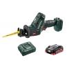 Пила сабельная аккумуляторная SSE18LTXCompact +1х3.5Ач LiHD+ЗУ ASC55 Metabo T03340