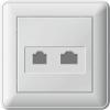 Розетка компьютерная + телеф. СП W59 бел. SchE RSI-251TK5E-18 (РСИ-251ТК5Е-18)
