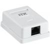 Розетка информационная RJ45 кат.5е UTP 1-порт настенная бел. ITK CS2-1C5EU-12