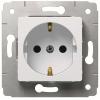 Механизм розетки 1-м СП Cariva 16А IP20 250В 2P+E с заземл. немецк. стандарт бел. Leg 773659