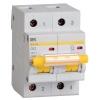 Выключатель автоматический модульный 2п C 63А 10кА ВА47-100 IEK MVA40-2-063-C
