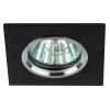 Светильник KL57 SL/BK 50Вт MR16 12В/220В точечный литой алюм. серебр./черн. ЭРА Б0017255