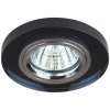 Светильник DK7 CH/BK 50Вт MR16 12В точечный; декор стекло круглое хром./черн. ЭРА C0043793
