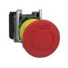 Кнопка аварийной остановки возврат поворотом 1НЗ триггерного действия металл. SchE XB4BS8442