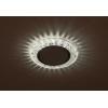 Светильник DK LD25 SL/WH GX53 точечный; декор со светодиодной подсветкой прозр. ЭРА Б0029635