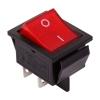 Выключатель клавишный 250В 20А (4с) ON-OFF красн. с подсветкой (RWB-502 SC-767 IRS-201-1) Rexant 36-2340