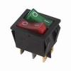 Выключатель клавишный 250В 15А (6с) ON-OFF крас./зел. с подсветкой двойной (RWB-511) Rexant 36-2450
