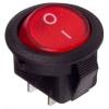 Выключатель клавишный круглый 250В 3А (2с) ON-OFF Micro RWB-105 SC-214 красн. Rexant 36-2511