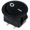 Выключатель клавишный 250В 6А (2с) ON-OFF круглый черн. Micro (RWB-105; SC-214) Rexant 36-2510