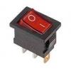 Выключатель клавишный 250В 6А (3с) ON-OFF красн. с подсветкой Mini (RWB-206; SC-768) Rexant 36-2150