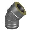 Отвод ОТ-Р 45* 304, 0,8/304, 0,5 d 120/220 с хомутом на замке ТИС