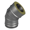 Отвод ОТ-Р 45* 304, 0,8/304, 0,5 d 150/250 с хомутом на замке, произв. ТИС