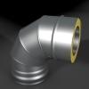 Отвод ОТ-Р 87* 304, 0,8/304, 0,5 d 120/220 с хомутом на замке, произв. ТИС