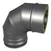 Отвод ОТ-Р 87* 304, 0,8/304, 0,5 d 150/250 с хомутом на замке, произв. ТИС