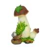 Фигура садовая гриб с ягодой и улиткой H-34см