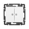 Механизм выключателя 2-кл. СП Valena 10А IP31 с подсветкой бел. (DIY-упак.) Leg 694290