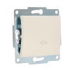 Механизм выключателя промежуточного 1-кл. 2п СП Karina 10А IP20 крем. LEZARD 707-0388-107