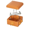 Коробка ответвительная FS 100х100х50мм 4р 450В 6А 4кв.мм с каб. вводами и клеммн. IP55 пластик. DKC FSB11404