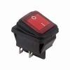 Выключатель клавишный 250В 15А (4с) ON-OFF красн. с подсветкой влагозащита (RWB-507) Rexant 36-2360